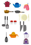 Cartoon kitchen icon. Vector drawing Royalty Free Stock Images