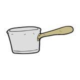 Cartoon kitchen pan Stock Photos