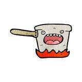 Cartoon kitchen saucepan Stock Photography
