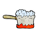 cartoon kitchen saucepan Stock Images