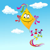 Cartoon Kite Smiling Face Royalty Free Stock Photography