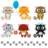Cartoon kittens vector illustration