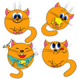 Cartoon kitty cat set. funny cats Stock Photography