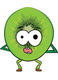 Cartoon kiwi character Royalty Free Stock Images