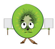 Cartoon kiwi character Stock Image