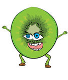 Cartoon kiwi character Royalty Free Stock Image