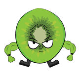 Cartoon kiwi character Royalty Free Stock Photos