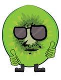 Cartoon kiwi character Royalty Free Stock Photos