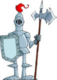 Cartoon knight. Knight on a white background, vector Stock Images