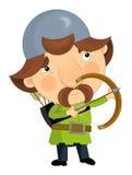 Cartoon knight - archer -  Stock Photography