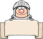 Cartoon Knight Banner Stock Photo