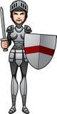 Cartoon Knight Battle Royalty Free Stock Photos
