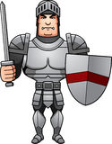 Cartoon Knight Battle. A cartoon illustration of a male knight ready for battle Stock Images