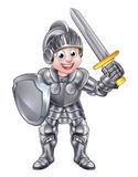 Cartoon Knight Boy Stock Photography