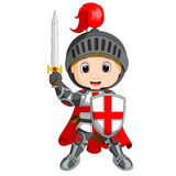 Cartoon knight boy Stock Image