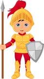 Cartoon knight boy Royalty Free Stock Photography