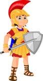 Cartoon knight boy Stock Images