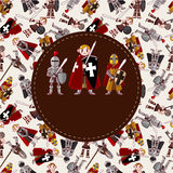 Cartoon Knight Card Royalty Free Stock Photo