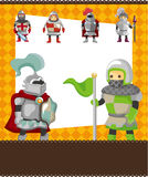 Cartoon knight card Royalty Free Stock Image