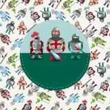 Cartoon Knight Card Stock Photo