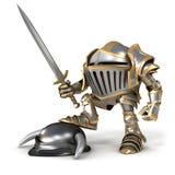 Cartoon Knight conqueror Royalty Free Stock Image