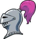 Cartoon knight helmet Stock Photography