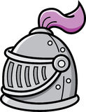 Cartoon knight helmet Royalty Free Stock Image
