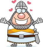 Cartoon Knight Hug Stock Photos