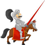 Cartoon knight posing Stock Photos