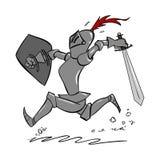Cartoon Knight Stock Image