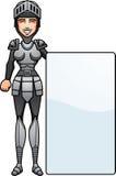 Cartoon Knight Sign Royalty Free Stock Photo