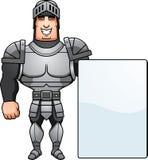 Cartoon Knight Sign Stock Image
