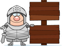 Cartoon Knight Sign Royalty Free Stock Photo