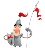 Funny cartoon knight Stock Image