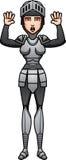 Cartoon Knight Surrender Royalty Free Stock Image
