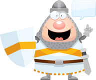 Cartoon Knight Talking Royalty Free Stock Photography