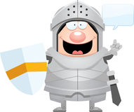 Cartoon Knight Talking Stock Image