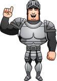 Cartoon Knight Talking Stock Image