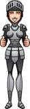 Cartoon Knight Thumbs Up Stock Photo