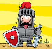 Cartoon Knight Tired Stock Image