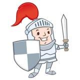 Cartoon Knight stock illustration