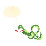 Cartoon knotted snake Stock Photos