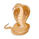 Cartoon Kobra Stock Image