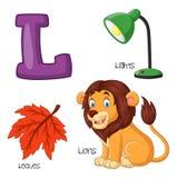 Cartoon L alphabet. Illustration of Cartoon F alphabet Royalty Free Illustration