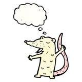 Cartoon lab rat smoking cigarette Royalty Free Stock Photography