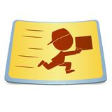 Cartoon label fast delivery Stock Photo