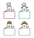 Cartoon labels 2 vector illustration