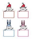 Cartoon labels 3 Stock Image