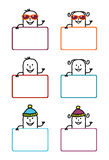 Cartoon labels 5 Royalty Free Stock Photography