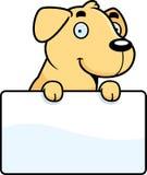 Cartoon Labrador Sign Stock Image